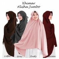 Jilbab Hijab Kerudung Bergo Tali Instan Khimar Alisha Syari Jumbo