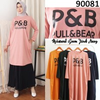Tunik P&B Bahan Babyterry Halus Baju Atasan Wanita Promo COD 90081