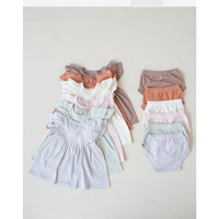 Cotton Cub Ruffle Dress Bloomer - Baju Anak Bayi Balita Bahan Katun