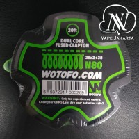 Wotofo N80 Dual Core Fused Clapton 28x2+38 - Roll