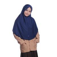 Kerudung Sekolah Size L Innova Lx Navy Rabbani Hijab Jilbab Scarf