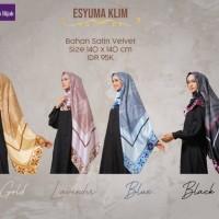 Jilbab Syari satin motif - Nibras Hijab segi empat Esyuma Klim