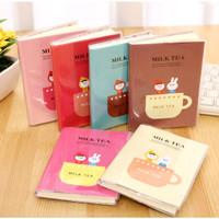 Buku Diary mini Buku Tulis sampul milk tea Catatan Memo notebook kecil