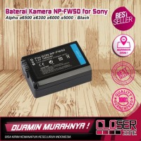 Baterai Kamera NP-FW50 for Sony Alpha a6500 a6300 a6000 a5000 - Black