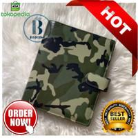 Binder Motif Army Printing Kulit Multiring 20ring A5 26ring B5