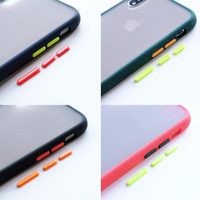 Hybrid Case + FREE extra tombol 1 warna - for iPHONE & OPPO
