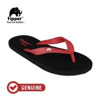 Fipper Comfy / Sendal Jepit Unisex / Black - Red