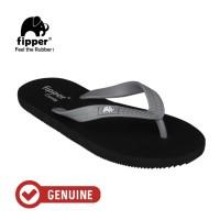 Fipper Comfy / Sendal Jepit Unisex / Black - Grey