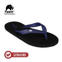Fipper Comfy / Sendal Jepit Unisex / Black - Navy