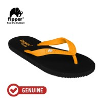 Fipper Comfy / Sendal Jepit Unisex / Black - Yellow