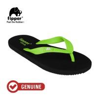 Fipper Comfy / Sendal Jepit Unisex / Black - Green Apple