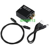 Converter Audio Digital to Analog Optic /optical to RCA