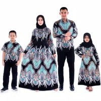 sarimbit couple gamis katun baju couple batik keluarga muslim modern