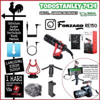 Forzago shotgun Microphone 3.5mm for Smartphone Canon Nikon Sony DSLR