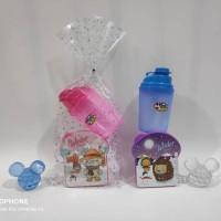 Paket souvenir ulangtahun anak bingkisan Kotak makan Gelas
