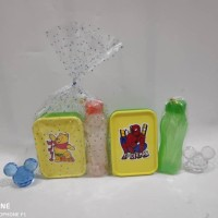 Promo Souvenir ulangtahun paket bingkisan kotak makan botol minum 350