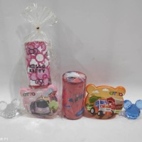 Paket hemat souvenir ulangtahun bingkisan kotak makan celengan karakte