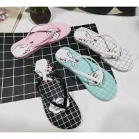 Sandal sendal jepit wanita flip flop love you sgc 02