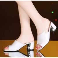 Sepatu sandal sendal wanita hak tahu big high heels d49
