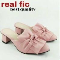 Sepatu sandal sendal wanita hak tahu selop big high heels us05