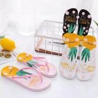 Sandal sendal wanita jepit flip flop flat teplek nanas sgc 13