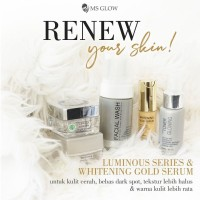 paket luminous/whitening + serum gold Ms glow