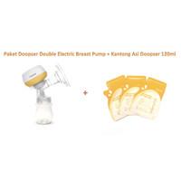 PD02 Paket DOOPSER Electric Breast Pump Pompa Asi + Kantong Asi GABAG
