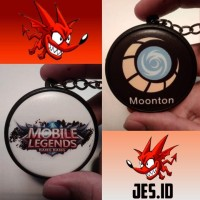 Gantungan kunci Exclusive Merchandise esports 2 sisi Mobile Legends MT