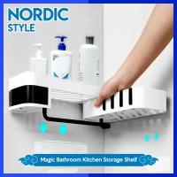 RAK KAMAR MANDI NORDIC STYLE Magic Corner Bathroom Kitchen / Rak Sudut