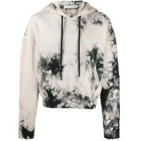 OFF-WHITE tie-dye effect hoodie