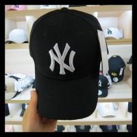 (TERLARIS) TOPI NEWYORK BORDIR BASEBALL LENGKUNG MLB NY YANKEES