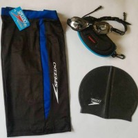 Kacamata Speedo+Caps+Celana renang (1set)