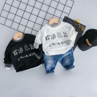 Promo Setelan Casual Bayi / Anak Perempuan Sweater Round Neck Lengan