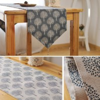 Terbaru Modern Table Runner 160-240Cm Linen Cotton Wedding Party