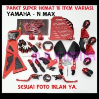 Promo PAKET TERMURAH YAMAHA/NMAX 16 ITEM ACCESORIES MOTOR Berkualitas