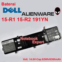 Baterai Laptop Original Dell Alienware 15 R1 R2 191yn