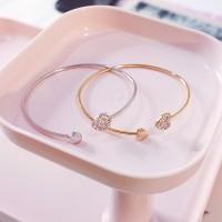 Lucu BUY 1 GET 1 Gelang Tangan Model Korean Style Gold-Layered Heart
