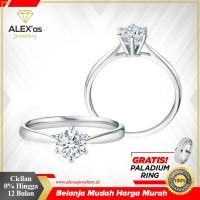 Cincin tunangan berlian eropa natural diamond emas 75% solitare 0,05Ct