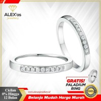 Cincin berlian eropa natural diamond emas 75% original