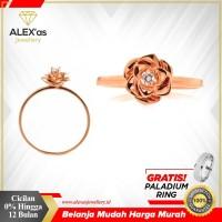cincin berlian Rosse natural diamond 0,05crat single original 18k gold