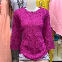 Baju Atasan Wanita Blus Brukat Premium Import Motek B022