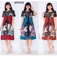 Dress Batik Premium Kombinasi Brukat