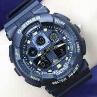 JAM TANGAN PRIA D-ZINER 8091 DOUBLE TIME ORIGINAL