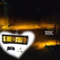 LAMPU TEMBAK LED SOROT DUA LAYER KUNING ANTI KABUT 48 CHIPS WATERPROOF