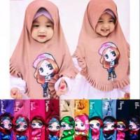 Khimar Anak Jilbab Bayi LOL Bisa Nyala LED Rempel Grosir J11