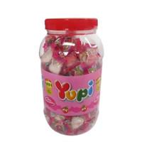 Yupi Kiss Straberry Big Jar Permen Kenyal Jajanan Anak