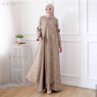 Baju Gamis Syari Wanita Terbaru Laura Maxi Dress Brukat Termurah