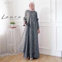 Baju Gamis Wanita Terbaru Laura Maxi Dress Brukat Termurah