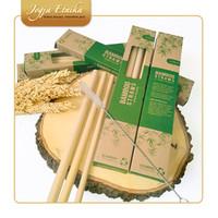Set 3 Pcs Sikat Pembersih Sedotan Bambu Kemasan Rustic Praktis (KECIL)