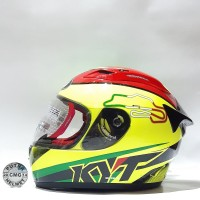 HELM KYT RC SEVEN MOTIF 15 ITALY YELLOW FLUO